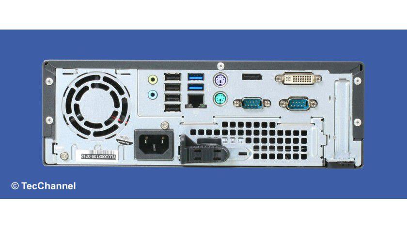 Kontaktfreudig: Der Fujitsu Esprimo C710 verfügt über alle notwendigen Schnittstellen für den Office-Einsatz.