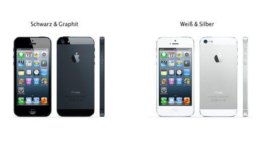Das neue iPhone 5 in beiden Farbausführungen.