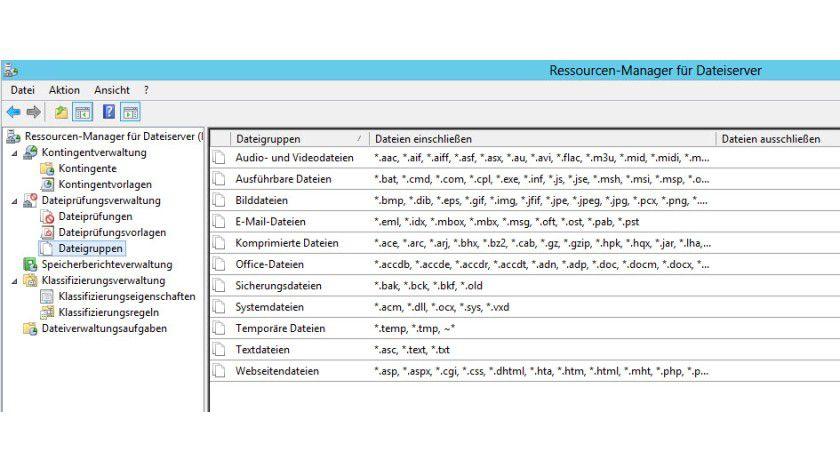Ordnung halten: Mit dem FSRM können Sie Dateiserver übersichtlich verwalten und Einschränkungen festlegen.