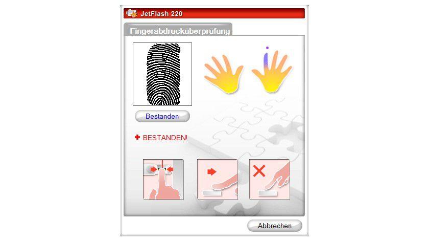 Zugriff: Mit einem Fingerscan muss sich der Anwender anmelden. Auch eine Kombination aus Fingerprint und einer PIN sowie eine Nur-PIN-Eingabe ist möglich.
