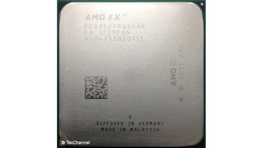 AMD FX-8350: Die 8-Core-CPU mit Bulldozer-Architektur ist für den Socket AM3+ ausgelegt. Der Prozessor arbeitet mit einer Grundtaktfrequenz von 4,0 GHz. Der FX-8350 kann durch Max Turbo CORE die Taktfrequenz auf bis zu 4,2 GHz erhöhen.