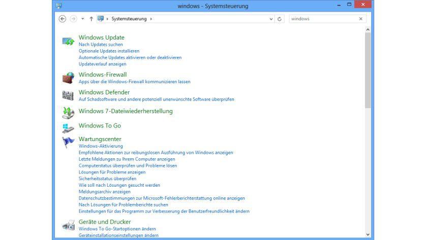Zum Mitnehmen: Windows To Go finden Sie bei Windows 8 Enterprise Edition in der Systemsteuerung.