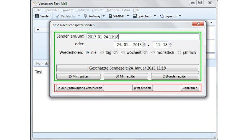 """Geplanter Versand: Mit dem Add-on """"Später Senden"""" lassen sich E-Mails auch in Thunderbird zeitversetzt verschicken."""
