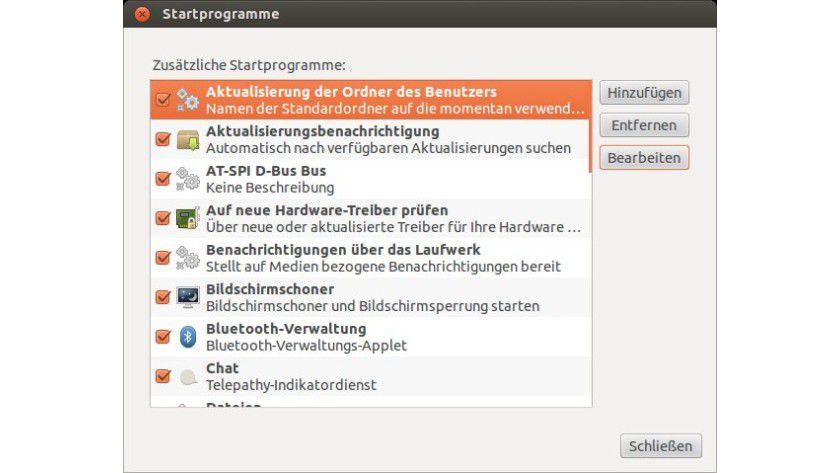 Back to the roots: Nach einer Konfigurationsänderung listet Ubuntu wieder alle Autostarts auf.