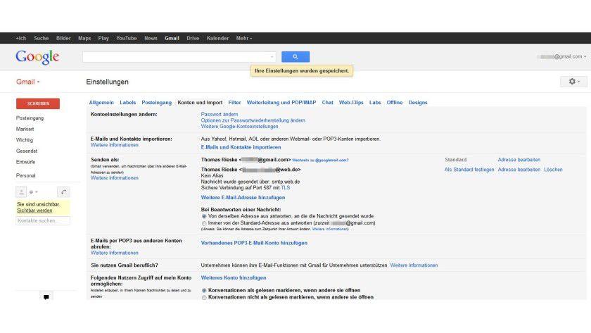 Nahtlose Integration: Bestehende Mail-Konten bei anderen Anbietern lassen sich mit wenigen Schritten in Gmail einbinden.