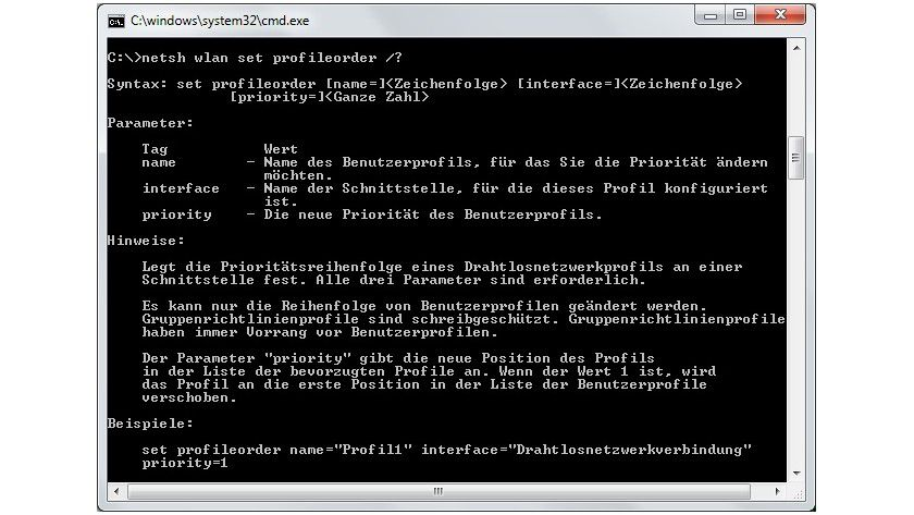 Prioritäten setzen: Unter Windows 8 lässt sich die Reihenfolge von Funknetzwerken mit Bordmitteln nur über die Befehlszeile festlegen.