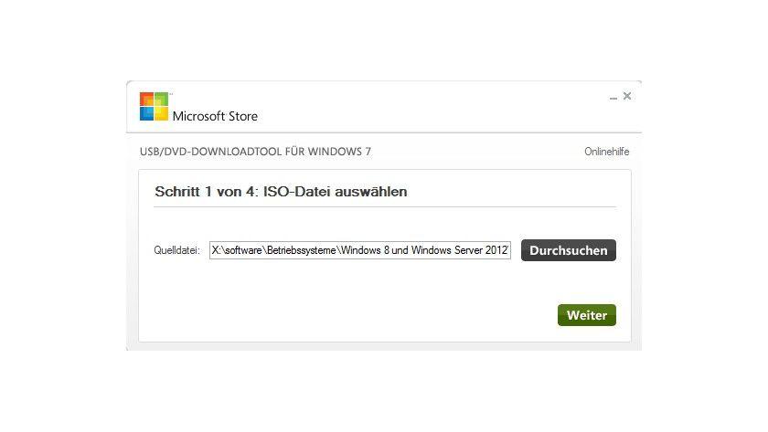 Starthilfe: Mit dem Windows-7-Tool zum Erstellen von boot-fähigen USB-Sticks können Sie auch einen boot-fähigen Datenträger für Windows 8 anfertigen.