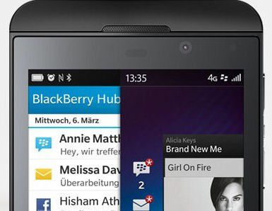 Blackberry Z10 mit Blackberry OS 10