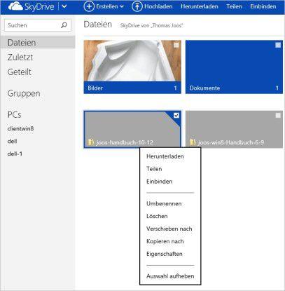 Praktisch: Das Teilen einer Datei mit SkyDrive ist effizienter als das Weiterreichen per Dateianlage.