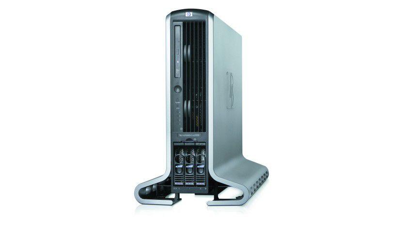 Itanium-Workstation zx6000: Die 2004 eingestellte zx6000 war eine der wenigen Itanium-Workstations, die HP herausgebracht hat, im Fokus standen bald x86-Workstations.