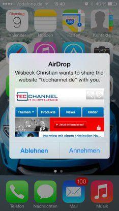 Neue Features: Neben dem geänderten Design gibt es in iOS 7 viele neue Funktionen wie beispielsweise AirDrop.