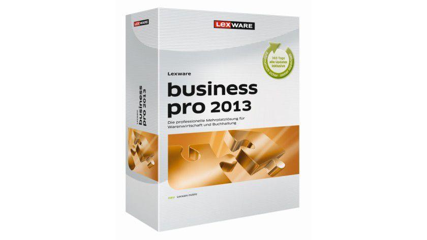 Lexware business pro 2013: Das Software-Paket für mittelständische Unternehmen ist eine Mehrplatzlösung mit drei Lizenzen.