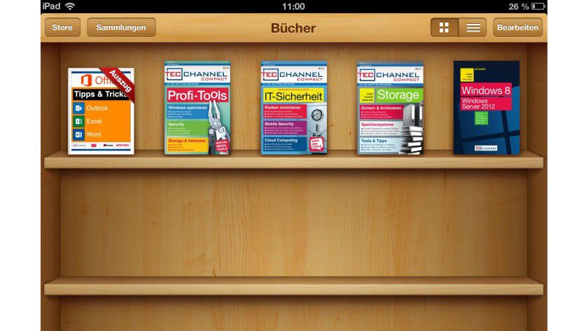 "TecChannel-iBooks: Neben den aktuellen Compact-Ausgaben gibt es noch unser Windows-8-Buch sowie das interaktive iBook ""Office Tipps & Tricks"" in Apples iBookstore."