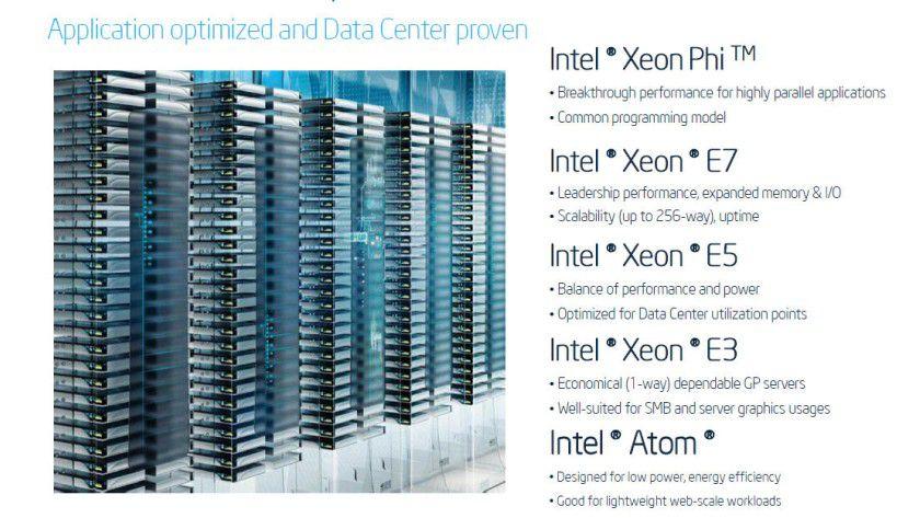 Produktportfolio: Der neue Xeon E5-2600 v2 ist Intels Universal-Prozessor für das Rechenzentrum. Intel will hier einen Mix aus Performance und geringer Energieaufnahme bieten.