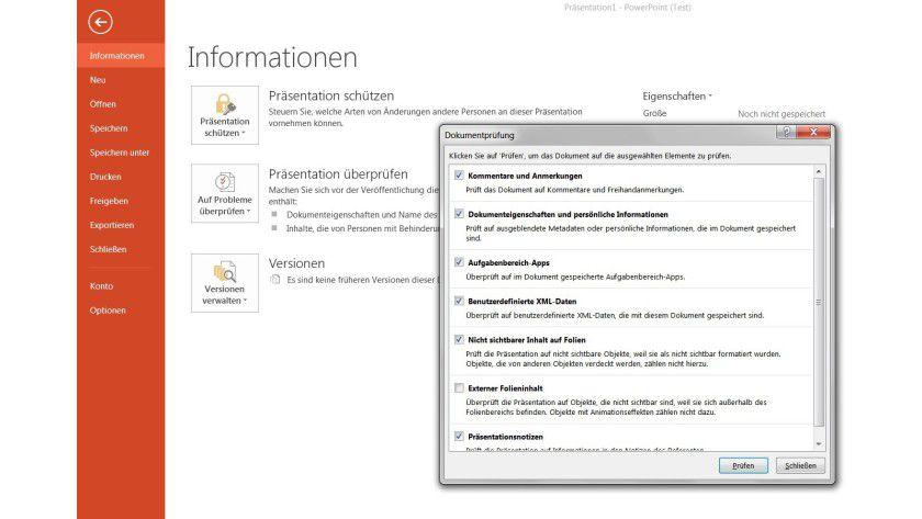 Sensible Daten: Metadaten in Powerpoint-Dateien lassen sich rasch aufspüren und auf Wunsch entfernen.