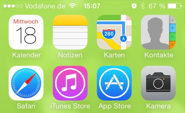 iOS 7 auf dem iPhone