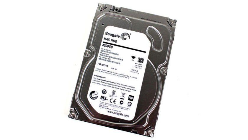 Seagate NAS HDD 4000GB: Die Festplatte für den NAS-Betrieb arbeitet mit 5900 U/min und bietet 4 TByte Kapazität.