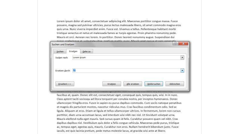 Clipboard-Unterstützung: Der Inhalt der Zwischenablage lässt sich mit dem Shortcut ^c ansprechen, was für umfangreiche Suchen-und-Ersetzen-Vorgänge sehr hilfreich ist.
