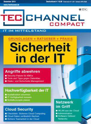 TecChannel Compact 09/2013: Auf über 160 Seiten nützliche Informationen für die Bereiche IT-Sicherheit im Mittelstand, Cloud-Security, Cloud-Services und Netzwerk.