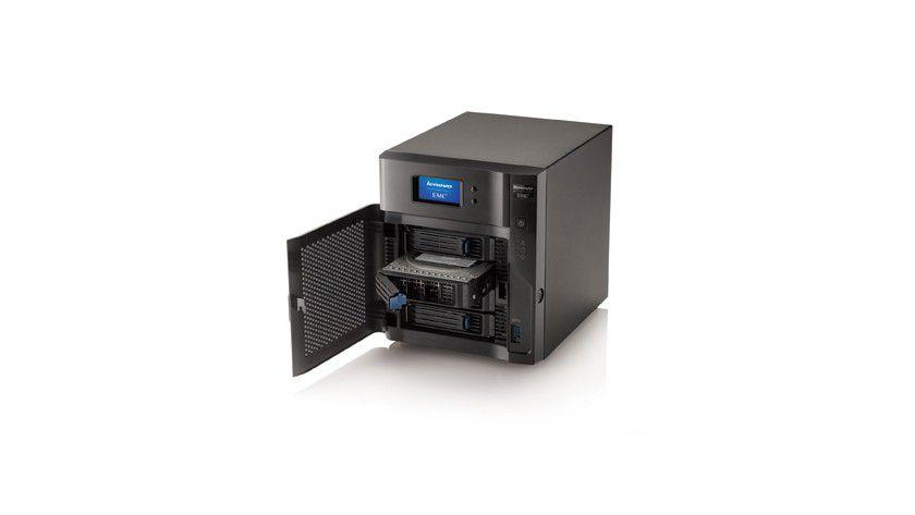 LenovoEMC px4-400d Serie: Netzwerkspeicher mit bis zu 16 TByte Kapazität und einer Vielfalt an Schnittstellen.