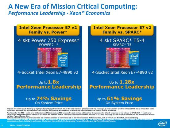 x86 vs. POWER vs. SPARC: Intel hebt die Vorzüge der eigenen Plattform gegenüber den Konkurrenten hervor.