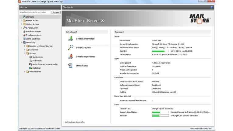 MailStore Server bietet einfache Verwaltung und Archivierung für kleine Unternehmen.