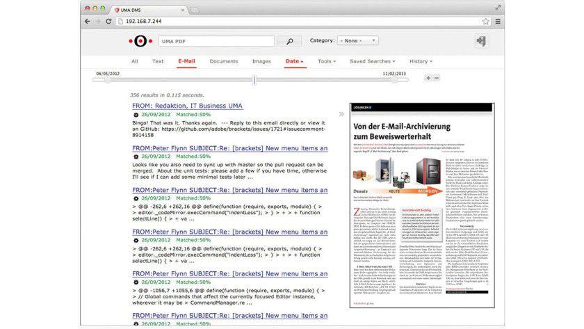 In Securepoint UMA suchen Anwender ähnlich wie bei Google.