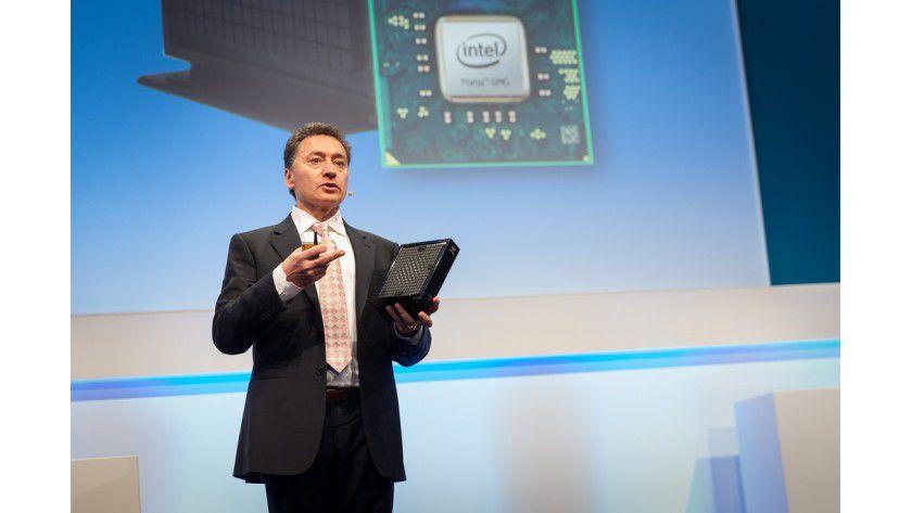 Puma 6: EMEA-Chef Christian Morales präsentiert auf der CeBIT Intels Smart-Home-Lösung.