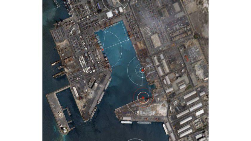 Skybox Imaging: Das Auswerten von Container-Bewegung in Häfen gehört zu den Angeboten des Anbieters.