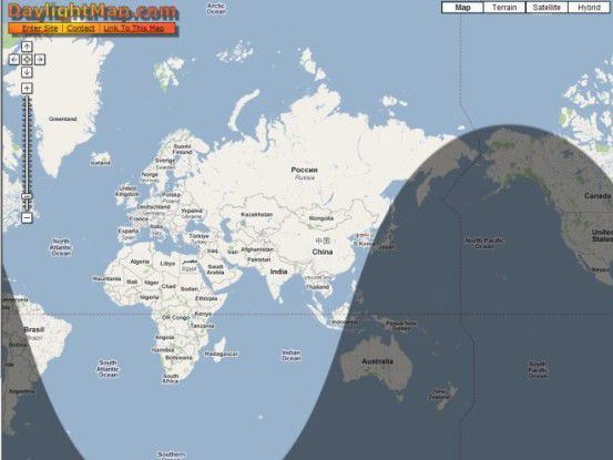 daylightmap.com: Hier geht Ihnen ein Licht auf