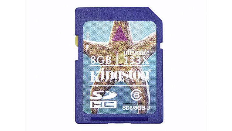 Eine übertaktete SD-Karte, die sich bis zu 20 MB/s auslesen lassen soll.