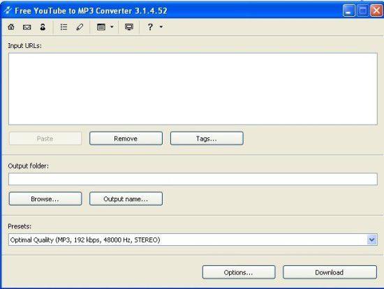 Der Free Youtube to MP3 Converter zieht wahlweise das komplette Video oder nur den mp3-File auf Ihre Festplatte.