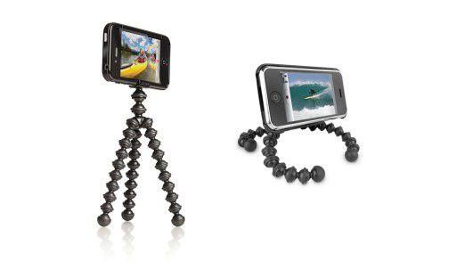 Mit dem Gorillamobile nehmen Sie im Urlaub wackelfreie Bilder und Videos auf. Das iPhone können Sie damit auch wie einen kleinen Fernseher nutzen.