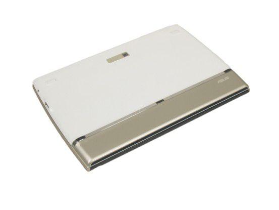 Rückseite des weißen Modells des Asus EeePad Slider