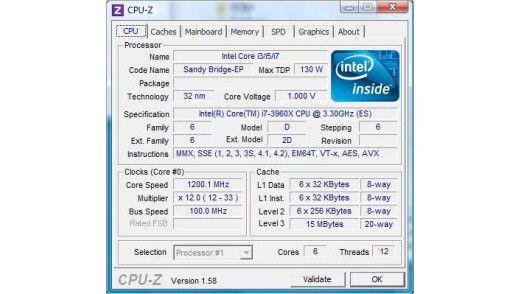 Cache as Cache can: Insgesamt besitzt der Core i7-3960X knapp 17 MB Pufferspeicher