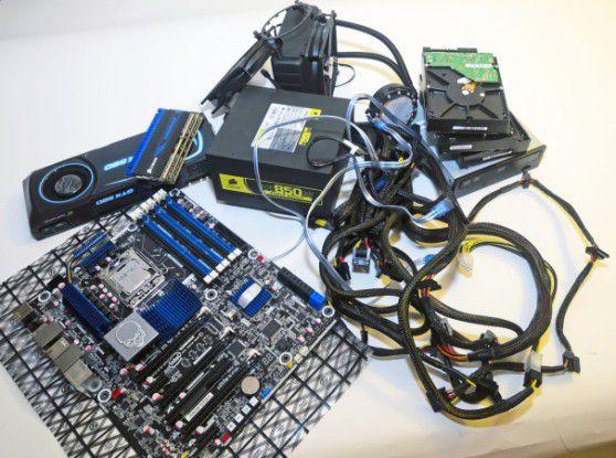 Natürlich gilt es, vor dem Zusammenbau Ihres PCs, einige Komponenten bereitzustellen.