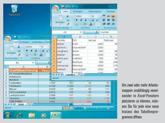 Jede Tabelle als neue Excel-Instanz öffnen