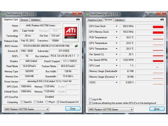 AMD Radeon HD 7770 GPU-Z