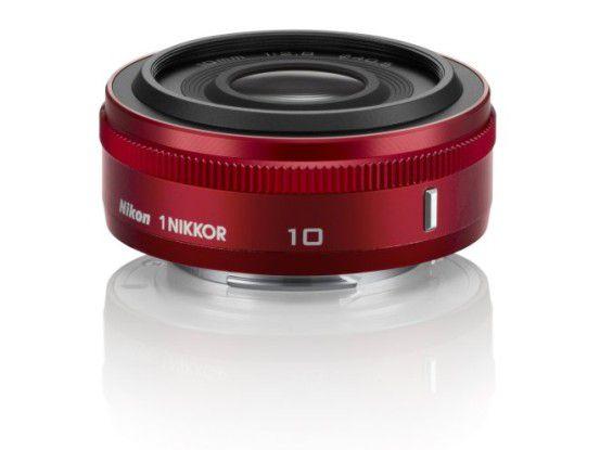 Weitwinkel-Festbrennweite Nikon 1 Nikkor 10 mm 1:2,8 - auch in rot erhältlich