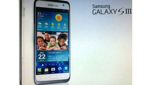 Hier angeblich zu sehen: Das Samsung Galaxy S3.