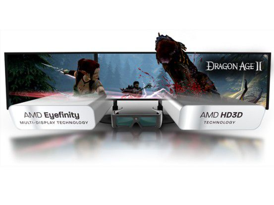 AMD setzt auf das Shutterverfahren inklusive Brille.
