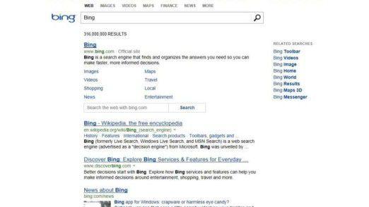 Die Bing-Suche bekam einen neuen Look und weitere Verbesserungen.