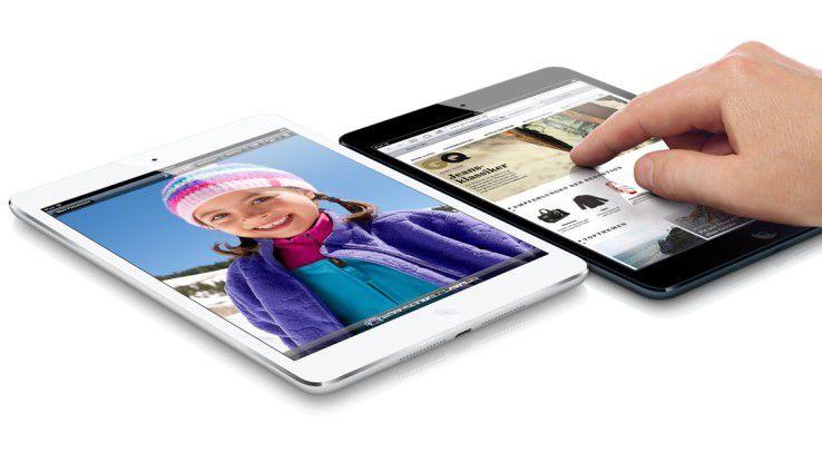 Das iPad Mini Retina bietet Apple in Space-Grau oder Silber an