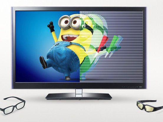 Abwärtskompatibel: 3D-Fernseher und 3D-Monitore können problemlos auch 2D-Inhalte anzeigen.