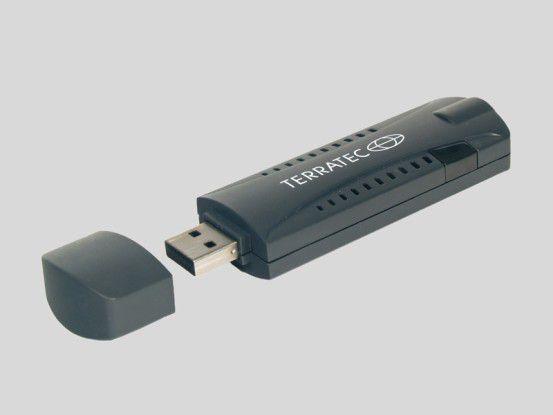 Terratec ran T Stick+: Liefert mobiles TV-Programm und DAB-Radio fürs Notebook.