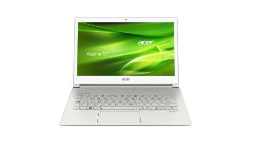 Viele Hersteller statten bestimmte Notebook-Modelle mit Touch-Display aus wie Acer beim Ultrabook Aspire S7.