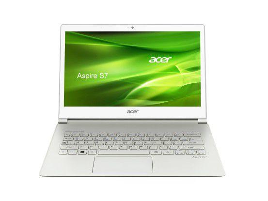 Viele Hersteller statten bestimmte Notebook-Modelle mit Touch-Display aus wie Acer beim Ultrabook Aspire S7
