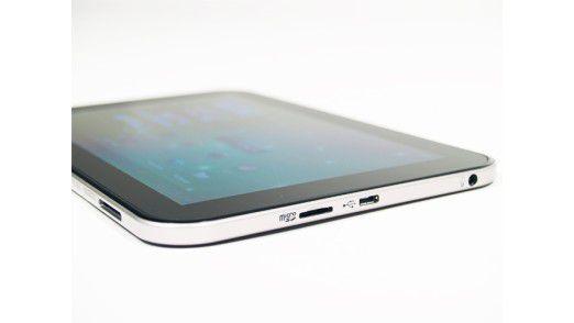 Ganz flach: Das Toshiba AT270 ragt nur 7,8 Millimeter hoch