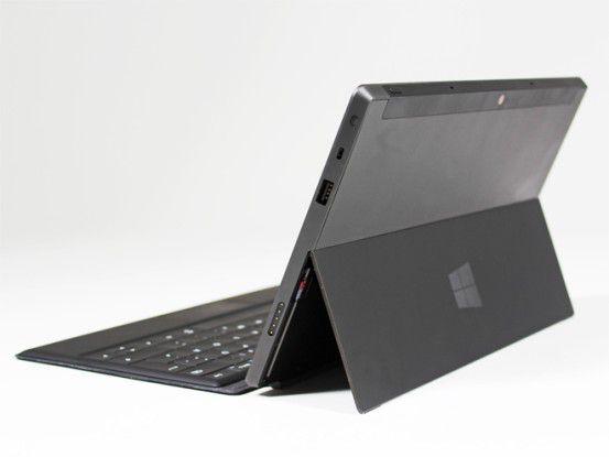 Sieht aus wie ein Notebook: Surface mit ausgeklapptem Standfuß