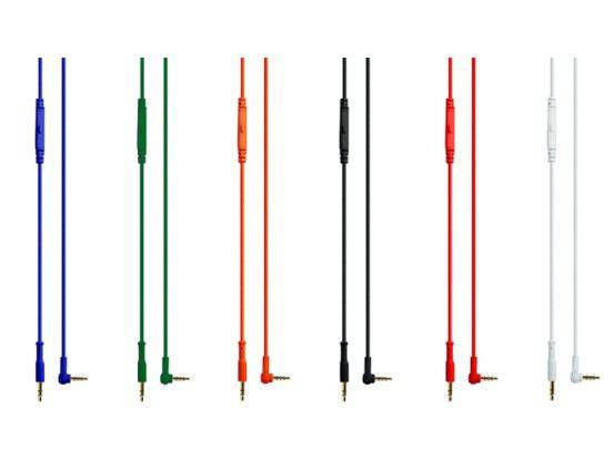 Die Kabel lassen sich durch andere Farben austauschen.
